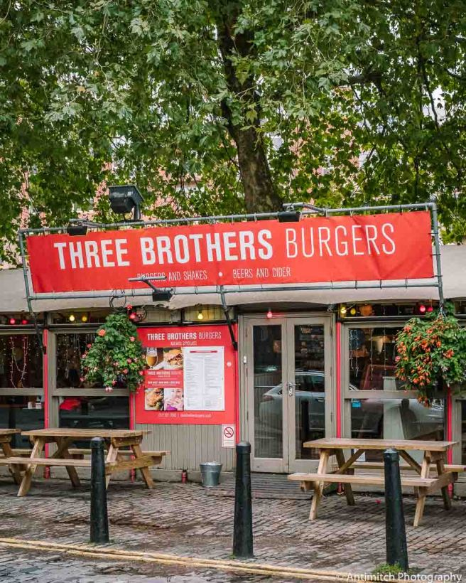 Exterior of Three Brothers Burger