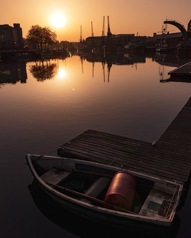 bristol harbour sunrise