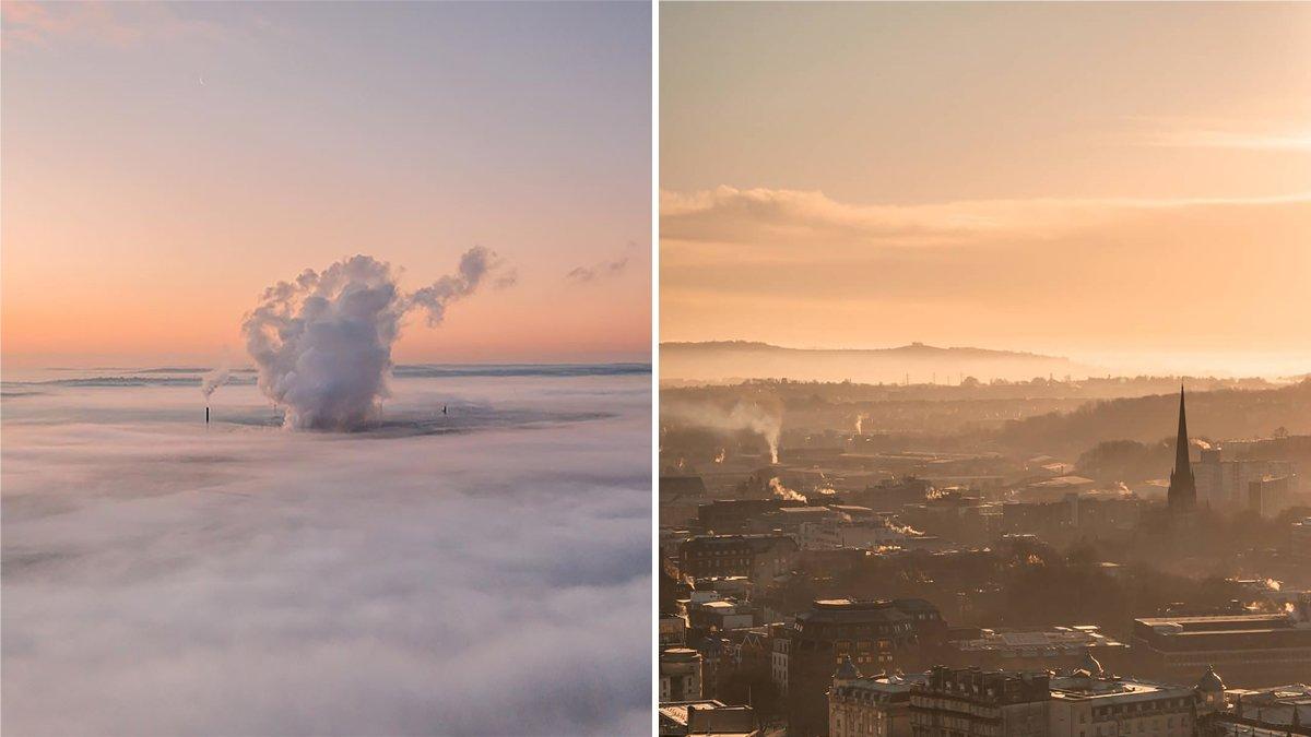 Bristol sunrise fog