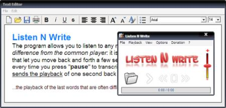 ListenNWrite Transcription Software