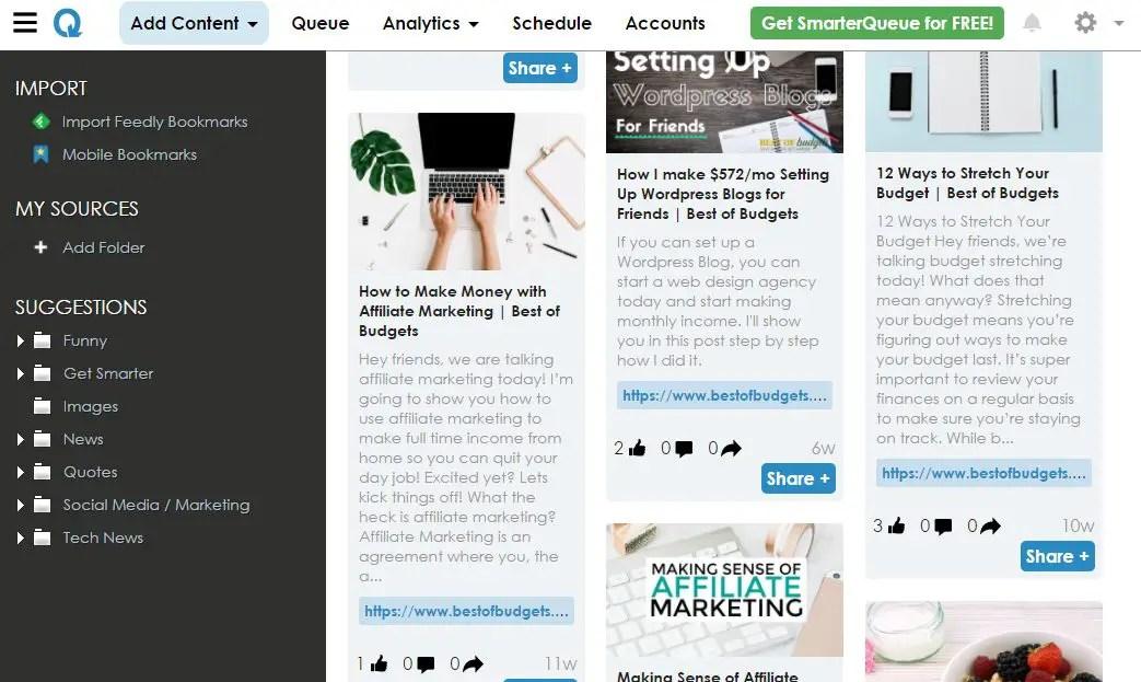 SmarterQueue- Adding Content