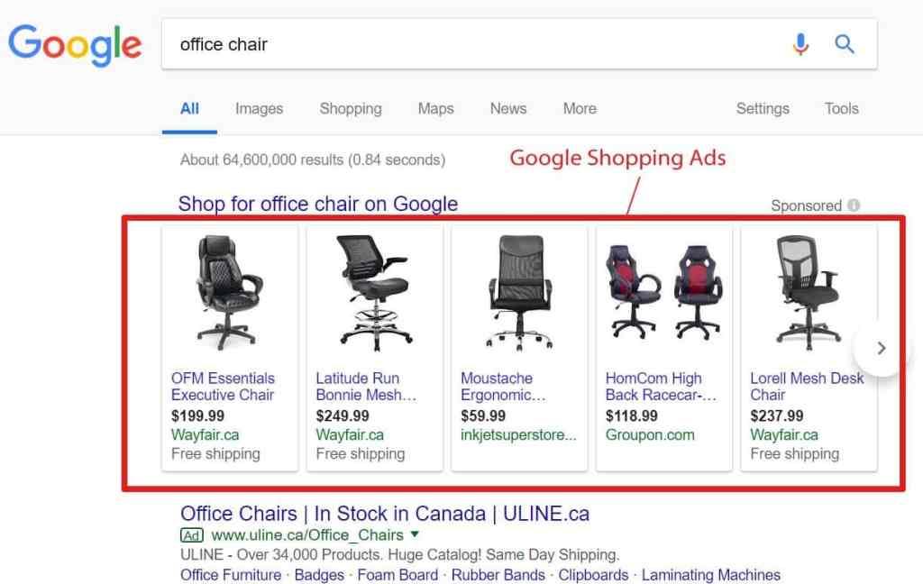 Google |Product Listing Ads (Shopping Ads) Examples
