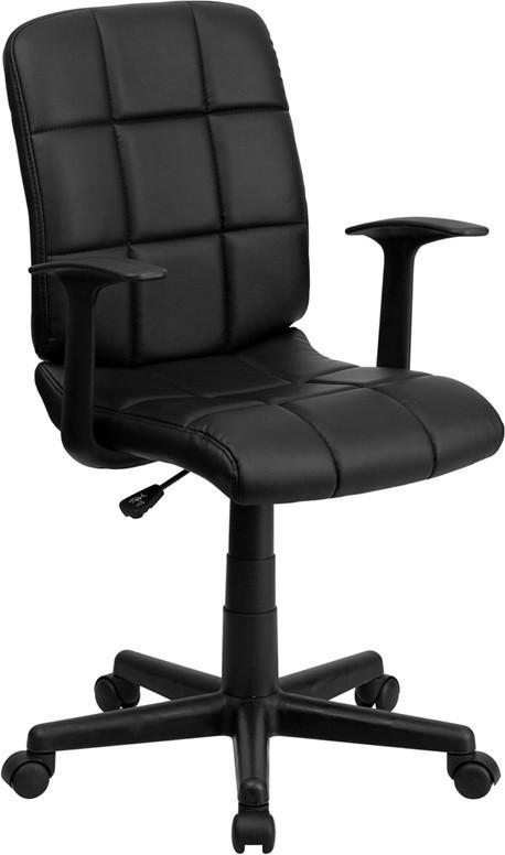 Flash Furniture Mid-Back Black Quilted Vinyl Swivel Task Chair Review