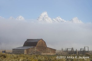 Barn With Fog Bank Sept. 19