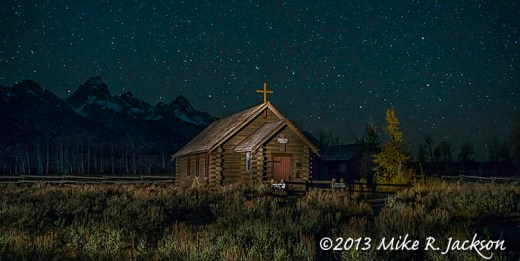 Web Chapel Close with the Big Dipper Oct24
