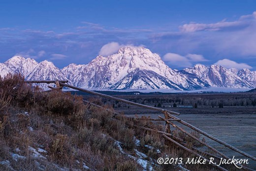 Mt Moran Buck Rail Fence Nov10