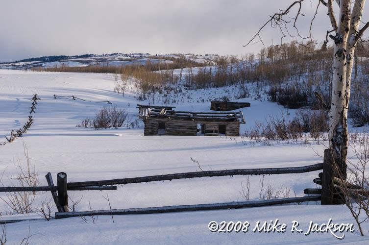 Cabin from the movie Shane - Grand Teton National Park