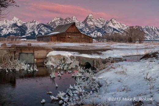 Moulton Barn Alpenglow