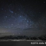 Web Teton Range And Stars