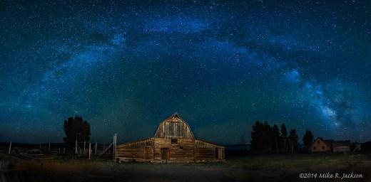 Moulton Barn Milky Way Pano