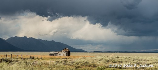 Murphy Barn with Storm Clouds