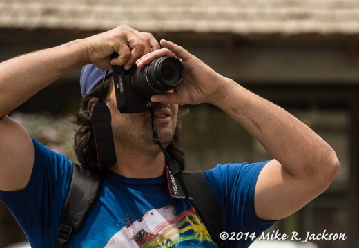 Photographer In Blue