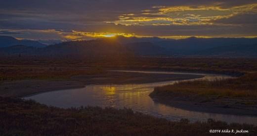 Sunrise Over the Buffalo Fork