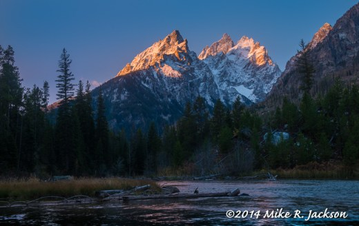 First Light on the Cathedral Group
