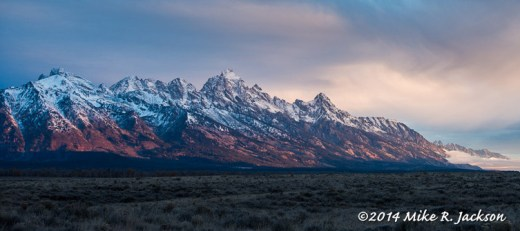 Sunrise Light on the Tetons