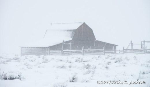 Moulton Barn in Snow