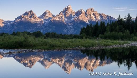 Reflected Tetons