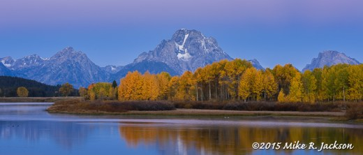 Alpenglow at Oxbow