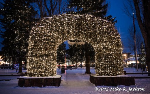 Antler Arches with Lights