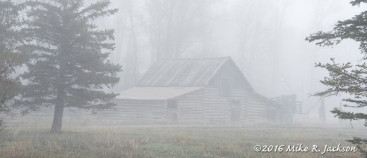 Lucas Barn and Fog