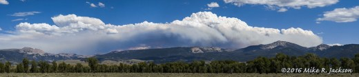 Cliff Creek Fire Pano