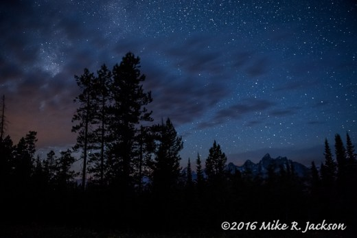 Stars with Tetons