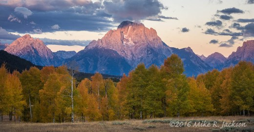 First Glow on Mt. Moran