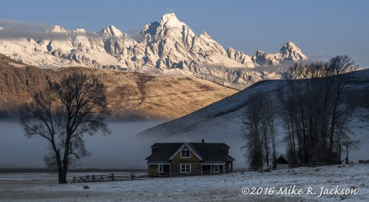 Miller House and Frosted Tetons