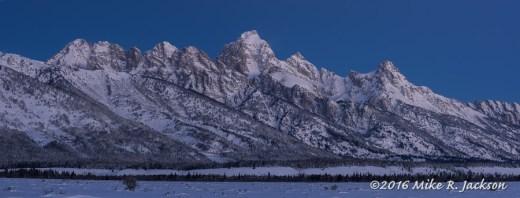Predawn Teton Range