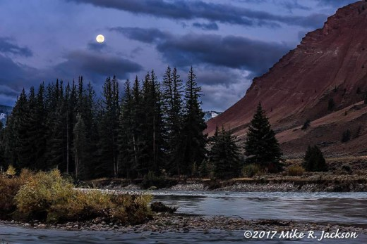 Gros Ventre Full Moon