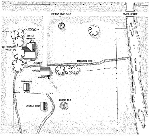 Thomas Perry Homestead Site Map