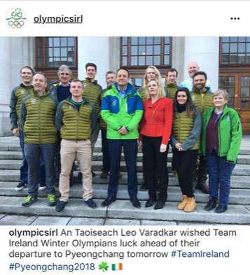 Ireland's Winter Olympians, Coaches and Officials