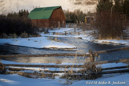 Flat Creek and Barn