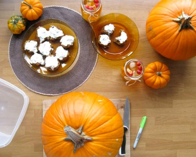 Sweet Pumpkin Biscuits with Lemon Buttercream Frosting