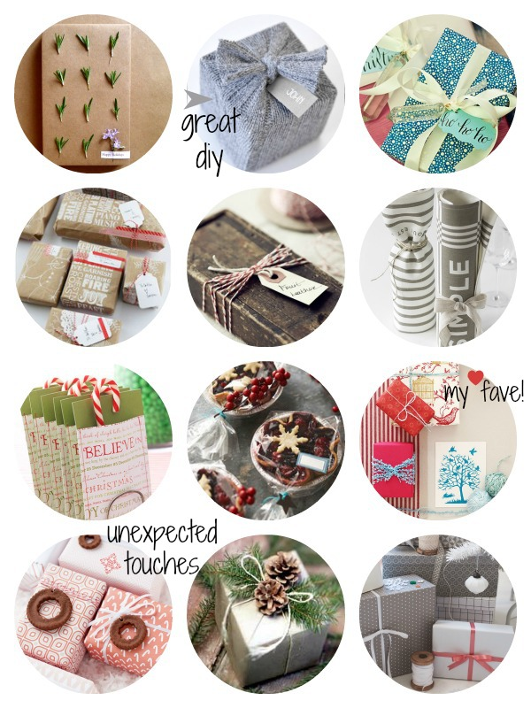 Monday Inspiration :: 12 Holiday Wrapping Ideas