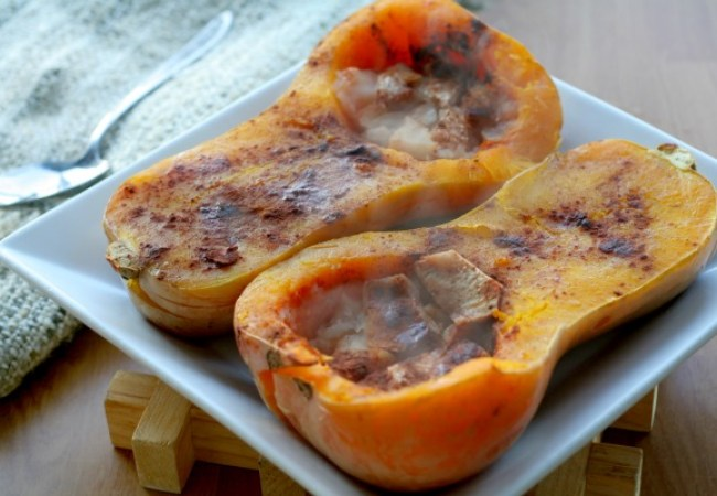 Baked Squash with Apple Stuffing