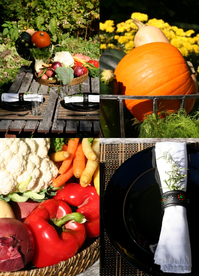 Fall Harvest Vegetables and Tablescape www.bestofthislife.com