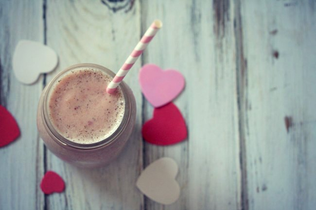 Chia Strawberry Vanilla Smoothie #dairyfree