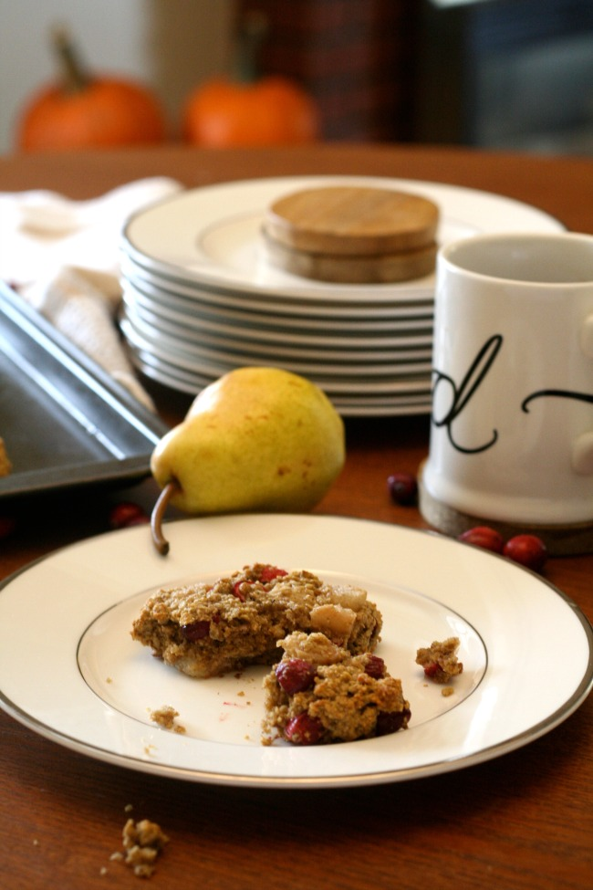 Spiced Cranberry Pear Scones (gluten-free, dairy-free) | The Best of this Life
