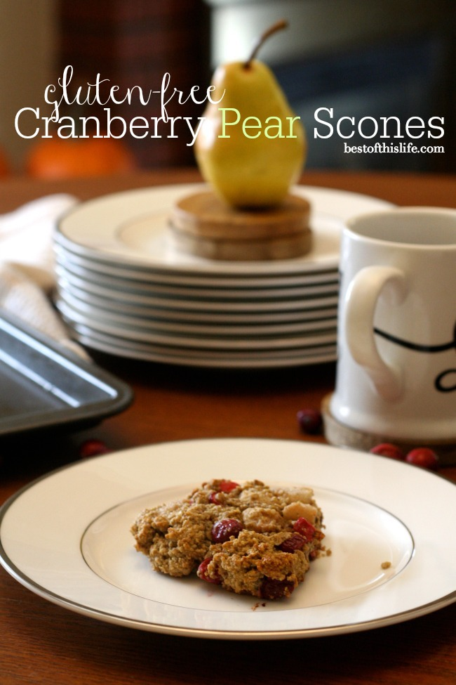 Spiced Cranberry Pear Scones (gluten-free, dairy-free)   The Best of this Life