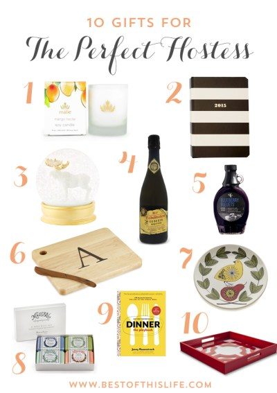 10 gifts for hostess