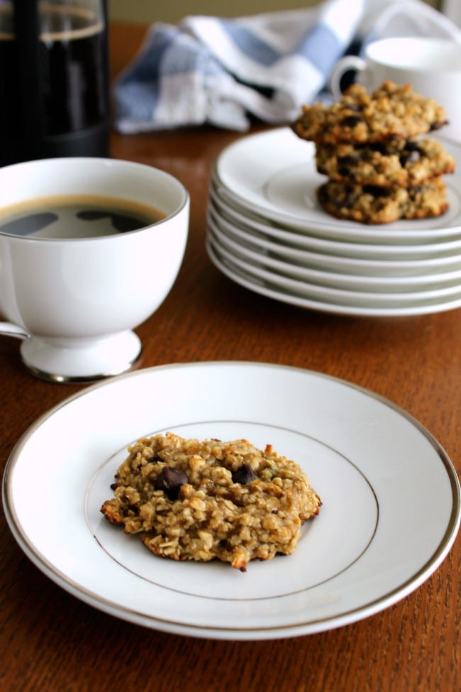 Gluten-Free Healthy Oatmeal Banana Chocolate Chip Cookies
