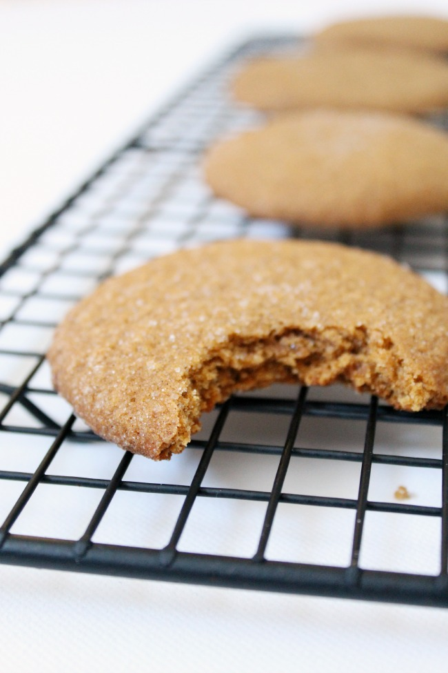 Gluten Free Molasses Cookies #vegan #glutenfree