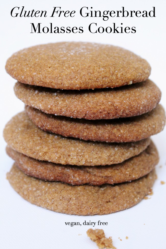 Vegan Gluten Free Gingerbread Molasses Cookies