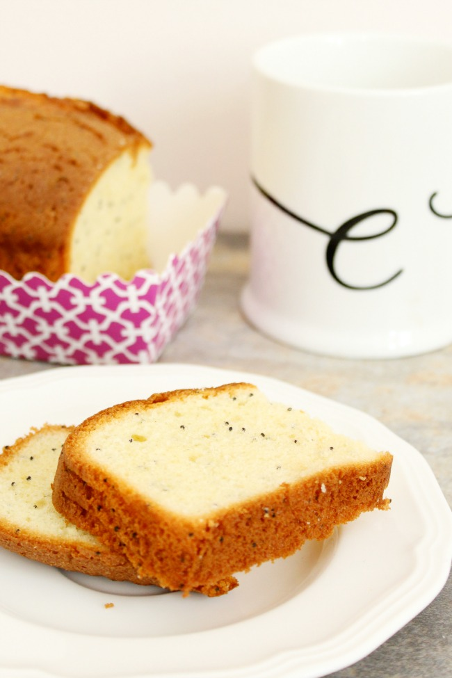 Gluten Free Lemon Loaf with poppy seeds