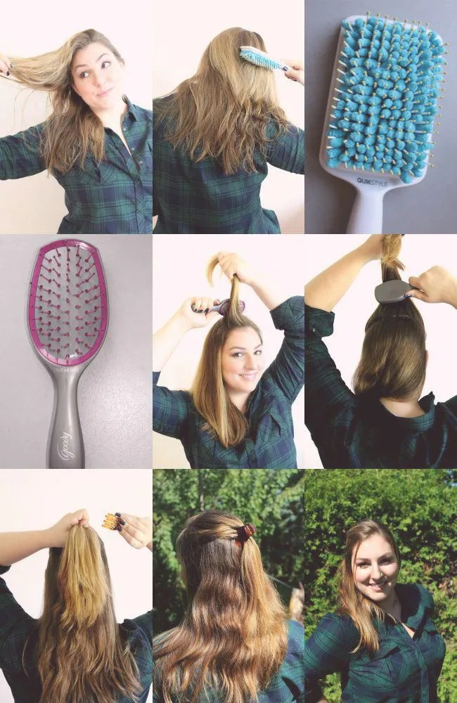 How to style half up half down with claw clip in 5 minutes
