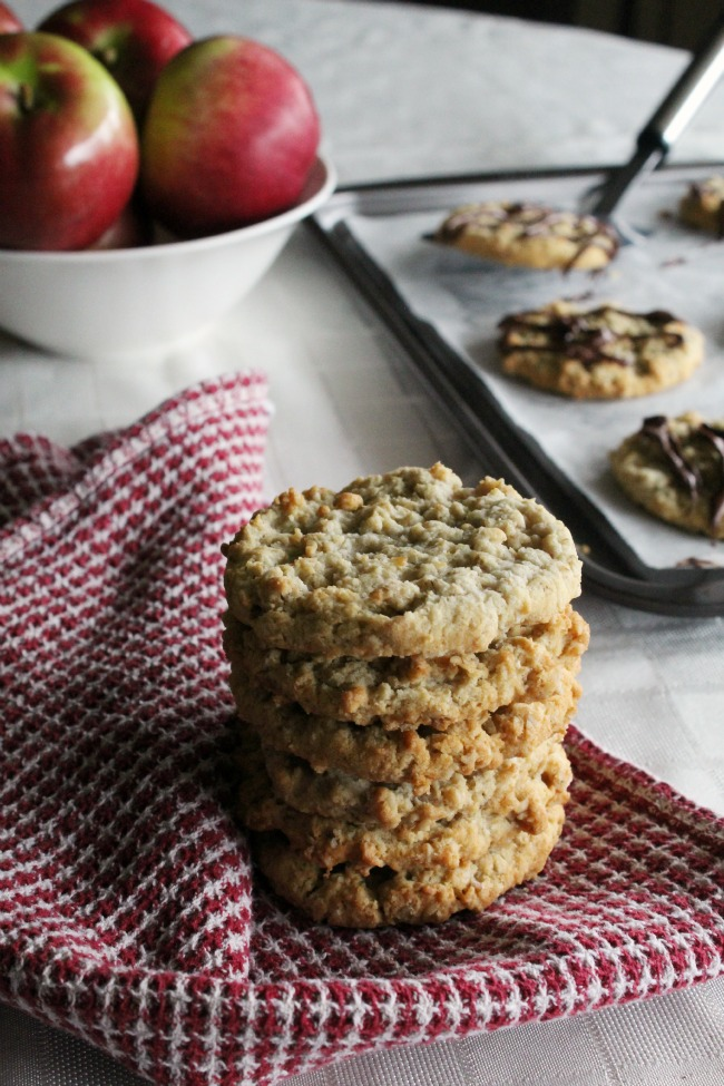 Caramel Apple Oatmeal Cookies Gluten-Free