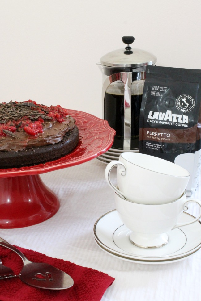 Pair Chocolate Cake with Perfecto Lavazza