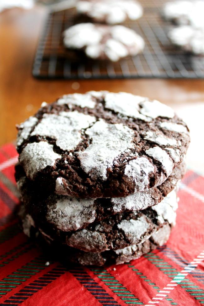 Christmas Crinkle Cookies Gluten-Free