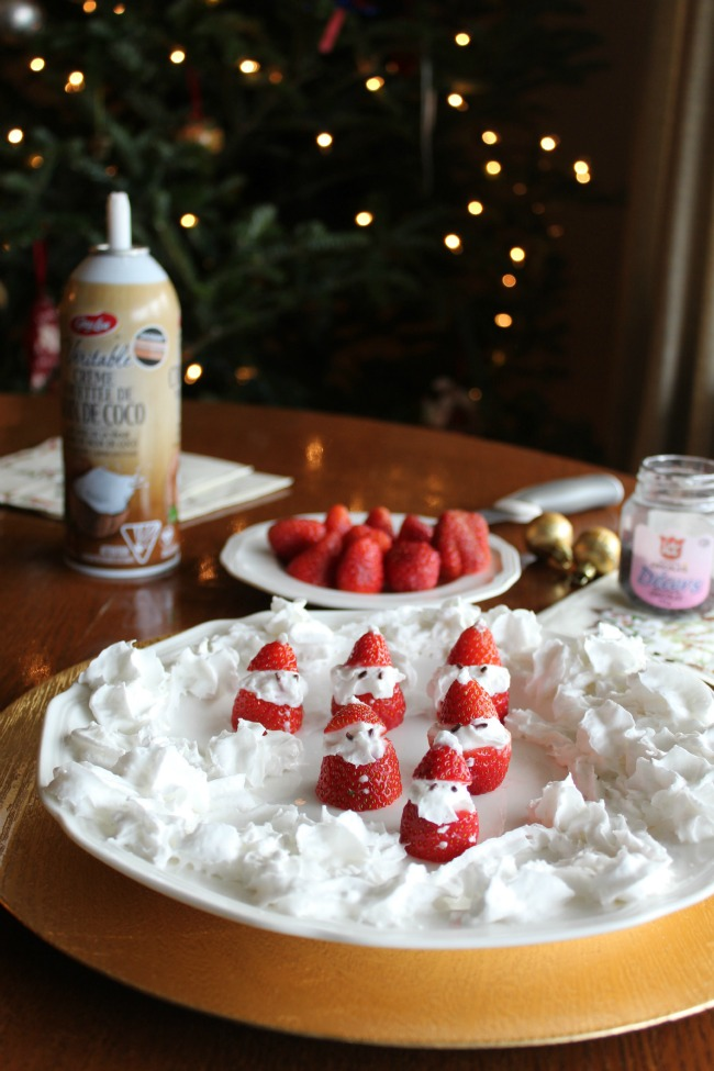 Strawberry Santas for Christmas